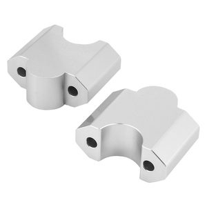 "Image 4 - KEMiMOTO 1 pair 2 Inch Handlebar Mount Clamp High Lifter Riser for INTRUDER M1800R 2"" Silver For Suzuki Boulevard M109R"