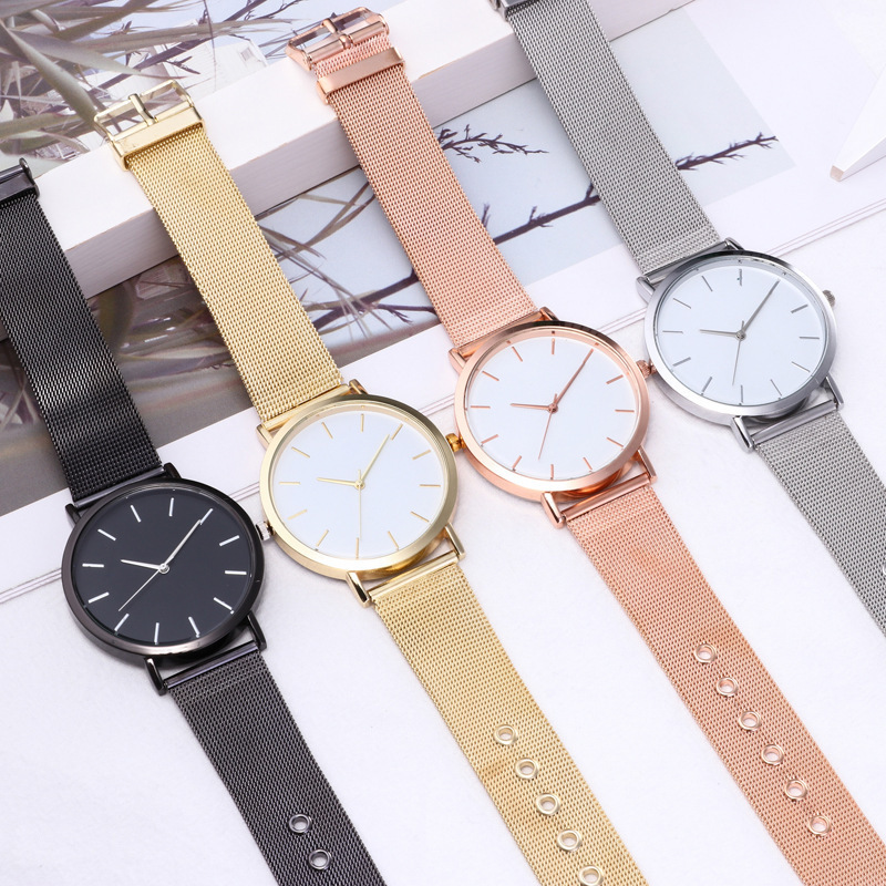 Men Women Couple Watch 4 Colors Lovers' Watches Stainless Steel Couple Watch Quartz Simple Unisex Watch Reloj Relogio Hodinky