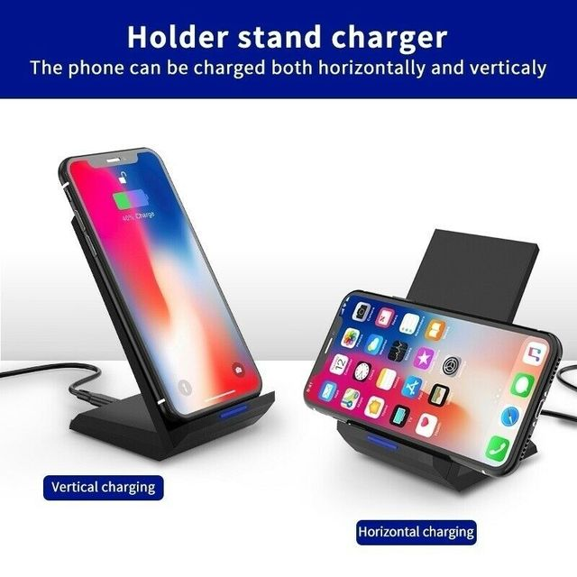 35W Qi Wireless Charger Stand For iPhone X XS MAX XR 11 Pro 8 Samsungs S20 S10 S9 Fast Charging Dock Station Phone Charger 5