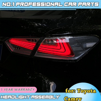 car accessories for 2018 Toyota Camry Taillights Camry LED Tail Lamp Rear Lamp DRL+Dynamic Turn Signal+Brake+Reverse taillight