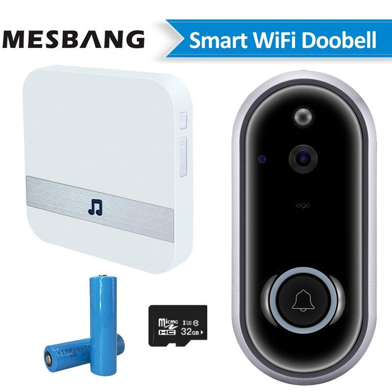 New Wifi Wireless Doorbell Video Door Phone Camera Calling Battery Wifi Door Phone Intercom Support TF Card Recording Chime
