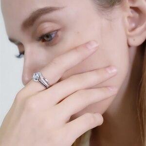 Image 5 - Bijou fin en argent Sterling 2020, auvent noir, tendance, Bague de fiançailles, anneaux de mariage pour femmes, nouvelle collection 925, C047