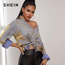 BLUSAS SHEIN 2020 blusa camisa PARA mujer hombro metálico