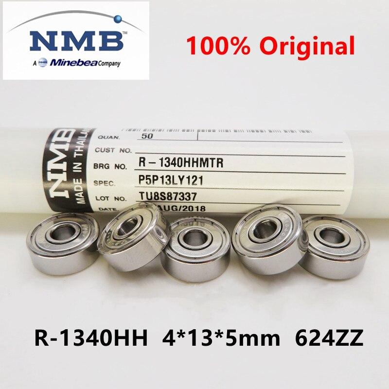 20pcs/100pcs original NMB Minebea R-1340HH 4*13*5 mm 624ZZ high speed miniature ball bearing 4mmx13m