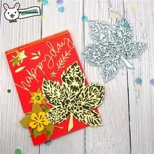 Naifumodo Maple Leaf Cutting Dies Metal Scrapbooking Album Card Making Embossing Stencil Diecuts Decoration