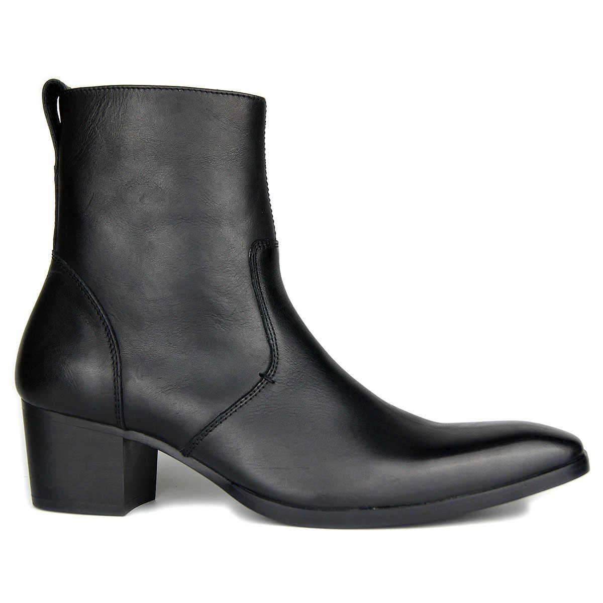 [90% OFF kusurlu ürün abd] yüksek topuk çizmeler erkekler için el yapımı hakiki süet deri marka klasik ayakkabı tasarımcısı hızlı kargo