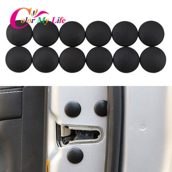 Car Door Lock Screw Protection Protector Sticker Covers for Honda Vezel Hrv City for Nissan X-trail Qashqai for Mazda 3 Axela image