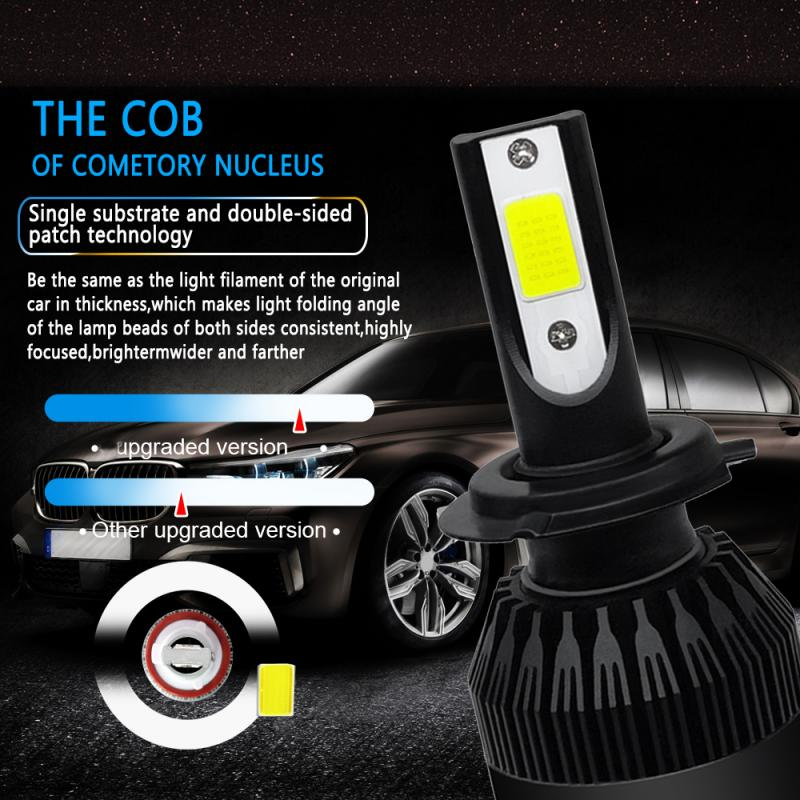1PCS Car Headlight Lamp H7 LED Bulbs H1 LED Headlamps Kit 6000k Fog Light 12V LED Lamp 72W 8000LM Car Headlight Kit