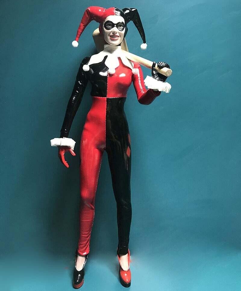 1:6 Joker Harley Quinn Female Head Sculpt Prisoner Ver F 12/'/'  Action Figures