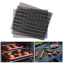 3 шт. PTFE коврики для барбекю и гриля с антипригарным сетчатым покрытием термостойкие Инструменты для барбекю