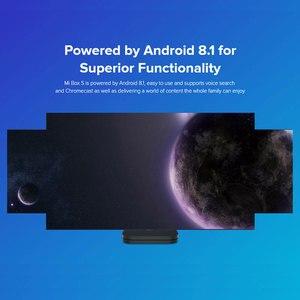 Image 4 - Versión Global Xiaomi funda para TV Mi S 4K HDR Android TV 8.1HD 2,4G 5,8G WIFI Google Cast Netflix Set Top Box 4 reproductor de medios