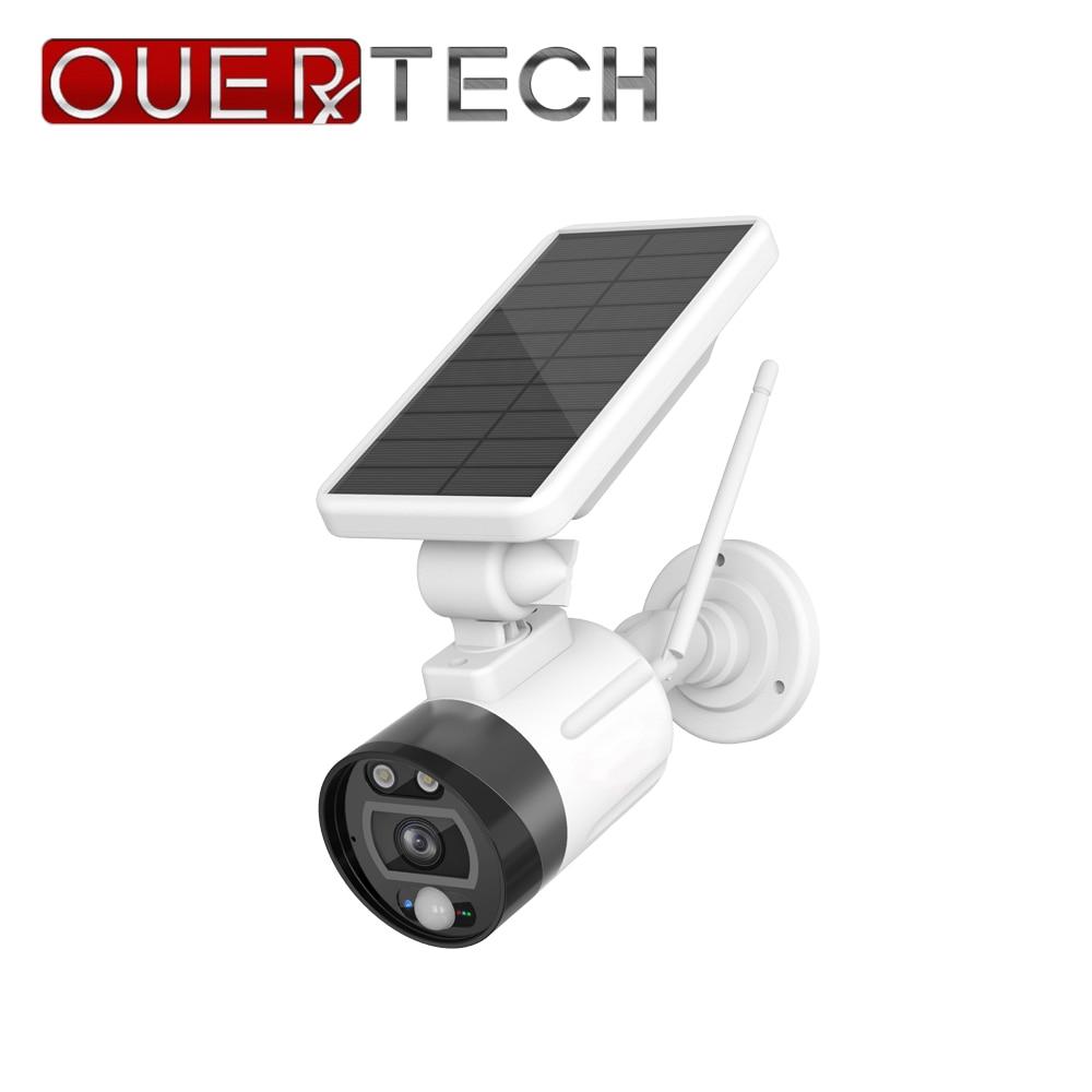 OUERTECH 1080P Outdoor Solar WIFI Camera Charging Battery Wireless Security Camera IP66 PIR Motion Detection Bullet Surveillance