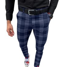 Harem-Pants Checkered Plaid Male Casual Korean-Muti-Color Mens Streetwear Plus-Size Trousers