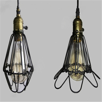 Retro Iron Small Cage Lamp Industrial Wind Bar Table Lamp Cross Border Goods Source American Rural Light Coffee House Lamp