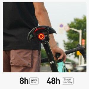 Image 4 - Fahrrad Touch Smart Sensor Rücklicht Bremse Vibration Induktion Bike Hinten Licht USB Schnelle Ladung MTB Road Fahrrad Schwanz Licht