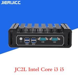 Image 5 - Core i3 7100u i5 7200u JC2L Fanless Mini PC with 2*RTL 8111E 10M/100M/1000M Lan 2 COM port,M.2 SSD lan nano itx desktop computer