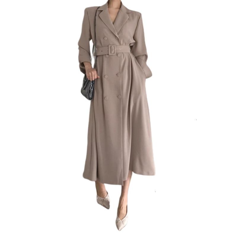 Elegant Solid Long Windbreaker 2019 Autumn Ins Korea Hot Coats Trench Coat Women Casacos Feminino Zaful Moda Mujer Overcoat