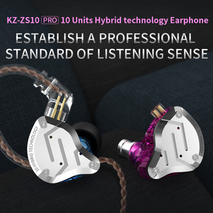 Image 5 - KZ ZS10 Proหูฟังตัดเสียงรบกวน4BA + 1DD Hybrid 10ไดร์เวอร์HIFI Bassหูฟังหูฟังโลหะชุดหูฟัง