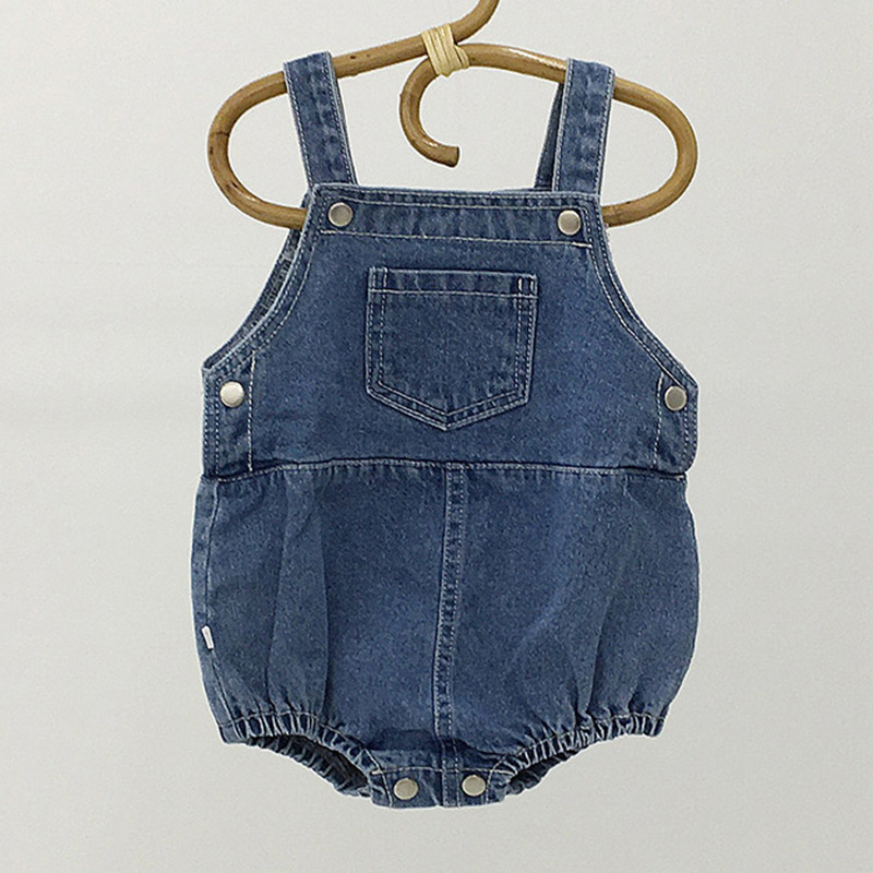 MILANCEL Baby Clothing Infant Girls Bodysuits  Sleeveless Boys Jumpsuits Pocket Baby One Piece