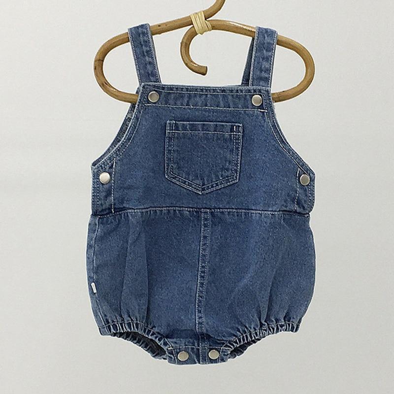 MILANCEL Baby Clothing Infant Girls Bodysuits  Sleeveless Boys Jumpsuits Pocket Baby One Piece