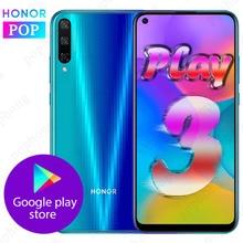 HONOR Play 3 Del Telefono Mobile HONOR play 3 6.39 pollici Kirin710F Octa Core Android 9.0 Viso sbloccare GPU Turbo 3.0 Il Supporto di Google gioco