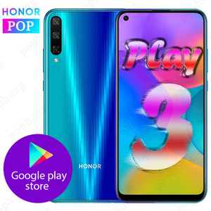 Image 1 - HONOR Play 3 мобильный телефон HONOR play 3 6,39 дюймов Kirin710F Восьмиядерный Android 9,0 разблокировка лица GPU Turbo 3,0 Поддержка Google play