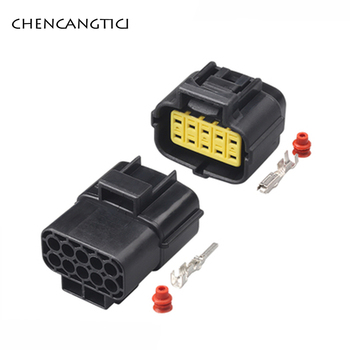2 Sets TYCO AMP Denso 10 Pin Way Plug Electrical Waterproof Auto Connector Female Or Male Socket 174655-2 174656-7 image