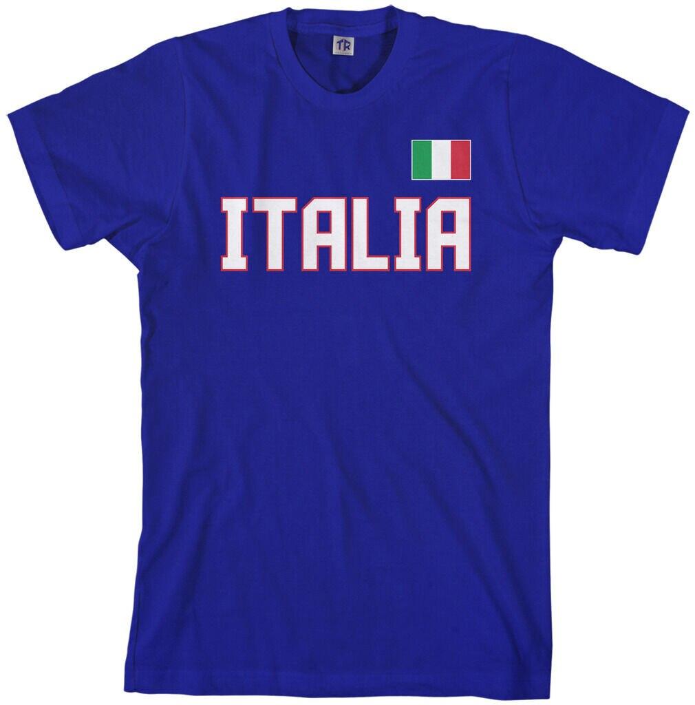 Threadrock Mens Italia National Team T Shirt Italy Soccer