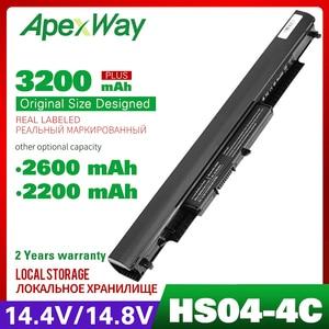 Apexway 14,4 V 2200mAh Аккумулятор для ноутбука HSTNN-LB6V HSTNN-LB6 hstnn lb6v 14-af0XX 15g-ad0XX для HP HS03 HS04 240 245 250 255