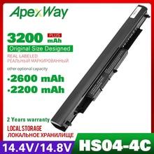 Apexway 14.4V 2200mAh Laptop Battery HSTNN LB6V HSTNN LB6  hstnn lb6v 14 af0XX 15g ad0XX For HP HS03 HS04 240 245 250 255