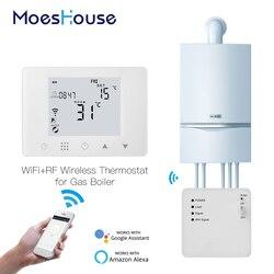 Termostato inteligente WiFi, calentador de Gas de pared, controlador de temperatura de calefacción compatible con Alexa y Google Home