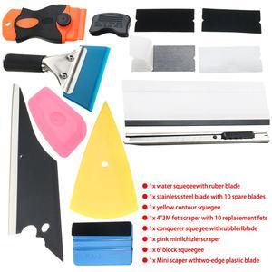 Image 3 - 28 * รถฟิล์มไวนิล Tools Squeegee Scraper Applicator ชุดอุปกรณ์จัดแต่งทรงผม Window Tint Wrapping เครื่องมือ