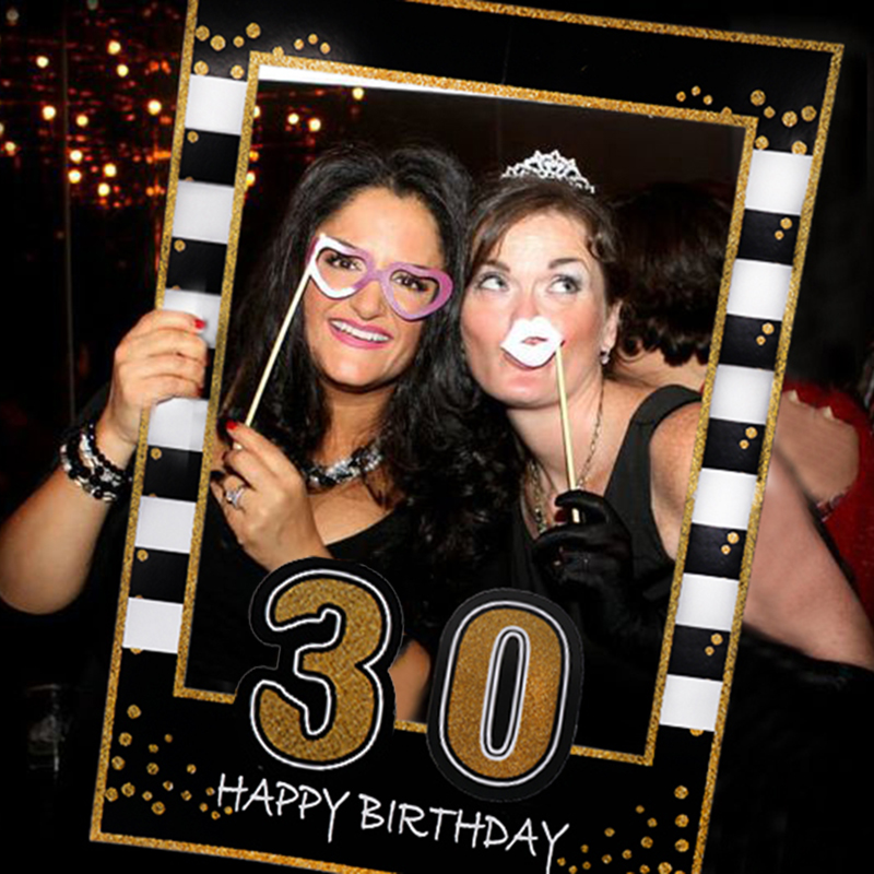 1 21 30 40 50 Birthday Photo Booth Frame Kids 1st Birthday Party Decorations Adult PhotoBooth Props Anniversary Party Supplies
