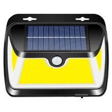 Solar Light Sensor Outdoor Street Wall Lamp Three-Sided Luminous Garden 163COB
