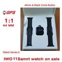 GPS IWO 11 IWO12 Bluetooth 44mm Smart Uhr 1:1 Herz Rate Blutdruck Kamera Musik GPS Sport Uhr
