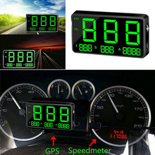GPS Speedometer Digital Car C80 Altitude Speed Display MPH KM/h Over Speeding Alarm System For Motorcycle Universal Car a8 car hud head up display car speedometer 5 5 inch windscreen projector obd2 code reader speed alarm voltage mph km h display