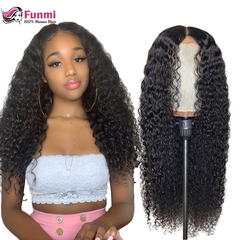 Jerry Curly Lace Front Human Hair Wigs With Baby Hair Brazilian Virgin Hair Short Curly Bob Wigs For Women PrePlucked Wig Funmi