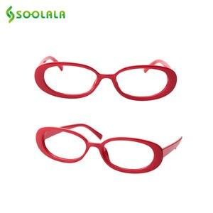 Image 3 - SOOLALA 5 Pairs śliczne owalne mała ramka do czytania okulary kobiety oprawki do okularów okulary korekcyjne 0.5 0.75 1.0 1.25 do 4.0