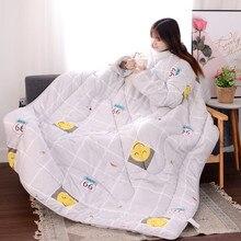 Франция дропшиппинг зимнее «ленивое» одеяло с рукавами зимнее одеяло для дома постельные принадлежности одеяло с принтом Edredom согревающее зимнее одеяло
