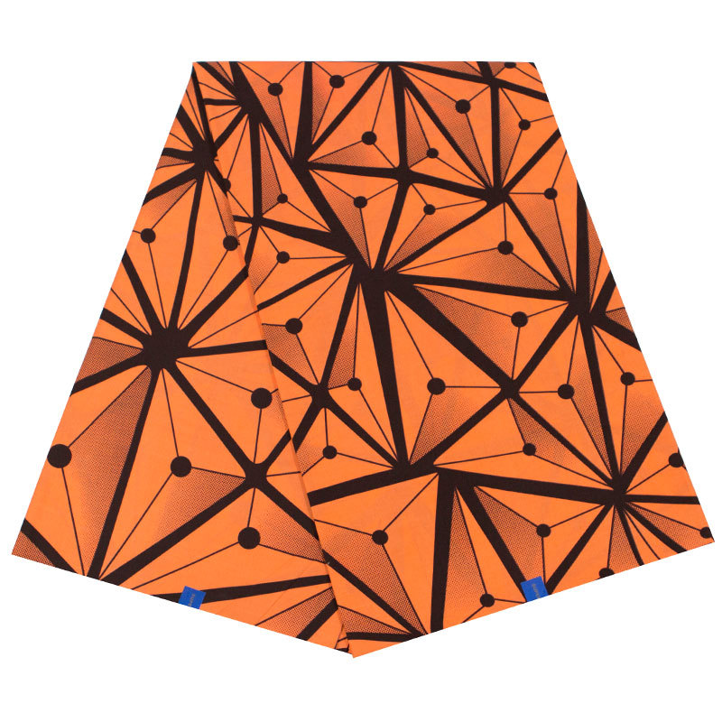 2019 New Arrivals African Orange Triangle Print Fabric 100% Cotton Les Pagnes