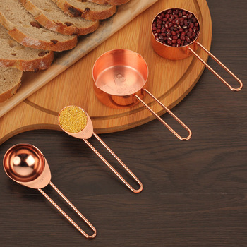 4 8 sztuk zestaw ze stali nierdzewnej kubki pomiarowe i łyżki miarka różowe złoto kawy i herbaty pomiarowe pieczenie w kuchni do gotowania narzędzia pomiarowe tanie i dobre opinie CN (pochodzenie) Miarki Ekologiczne Zaopatrzony Measuring Cups Spoons Metal STAINLESS STEEL Rose gold As picture shows Measuring Tools