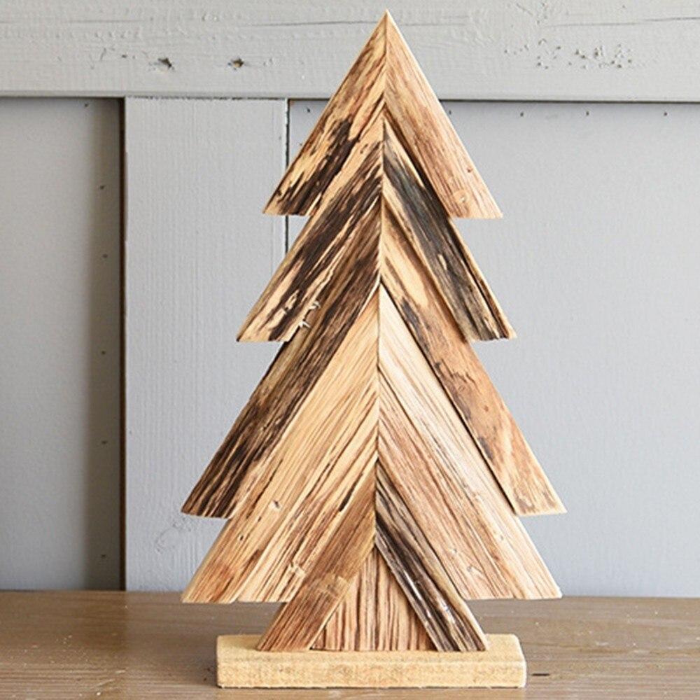 Рождественская деревянная елка DIY маленькие настольные украшения для детей подарок Рождественская елка украшения для рождественской вече