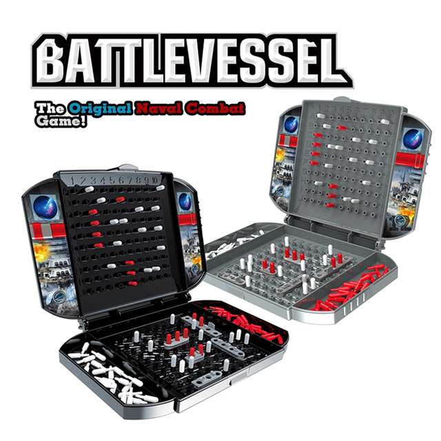 Battleship The Classic Naval Combat Strategy Board Games Board Game Classic Puzzle Game Random Color Box Packaging 1