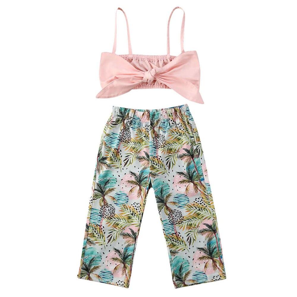 Kids Infant Baby Girls Tops Shirt+Harem Pants Summer Suit Beach Clothes 2PCS Set