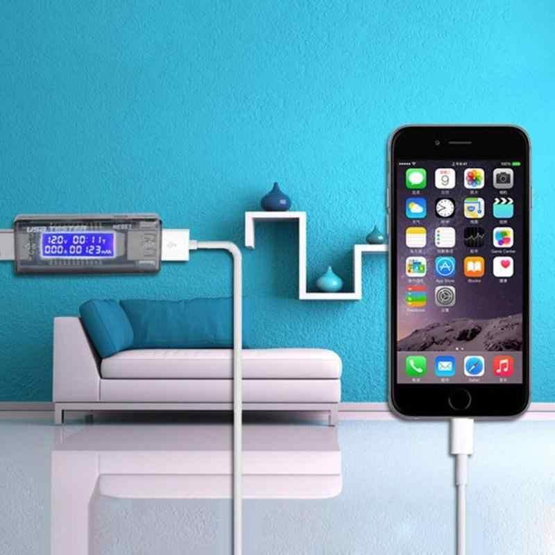 3 in 1 LCD Mobiele Batterij Tester Power Detector Spanning Stroom indicator Meter USB Charger Doctor Bank Tester Meter Voltmeter