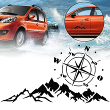 New Arrival 1pc 56x30CM Car Landscape Compass Vinyl Sticker Off Road SUV Jeep Car-styling Decals