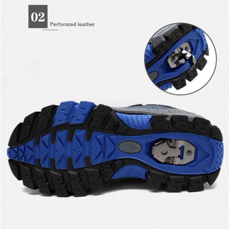 Boyutu 40 çocuk açık spor yürüyüş ayakkabıları erkek gençler dağcılık trekking ayakkabıları erkek yarım çizmeler çocuklar kış ayakkabı