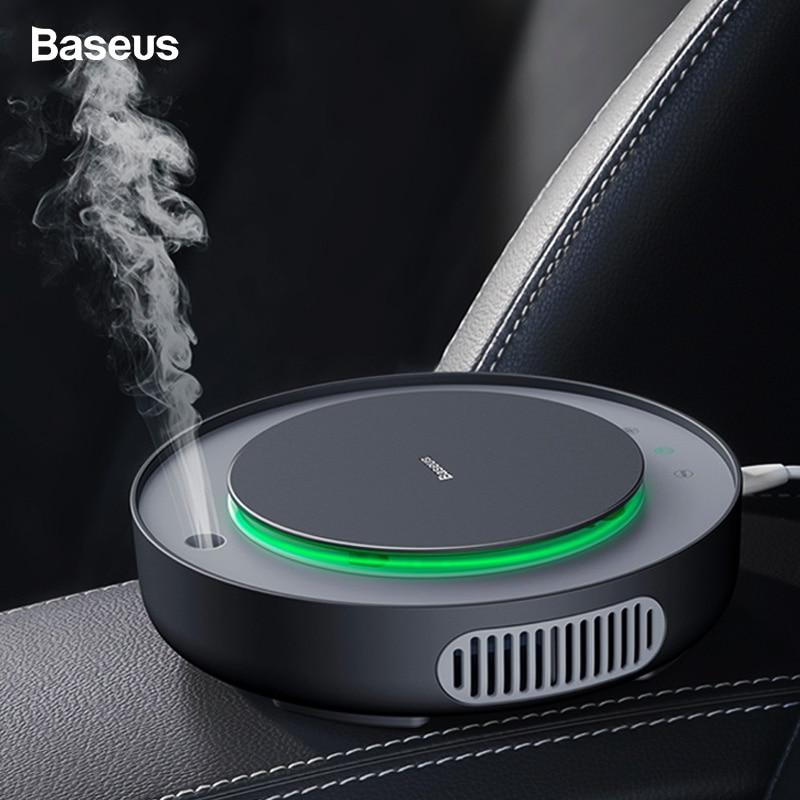 Baseus Car Air Purifier Filter Remove PM2.5 Formaldehyde Negative Ions Air Cleaner Ionizer Air Freshener Auto Mist Maker For Car