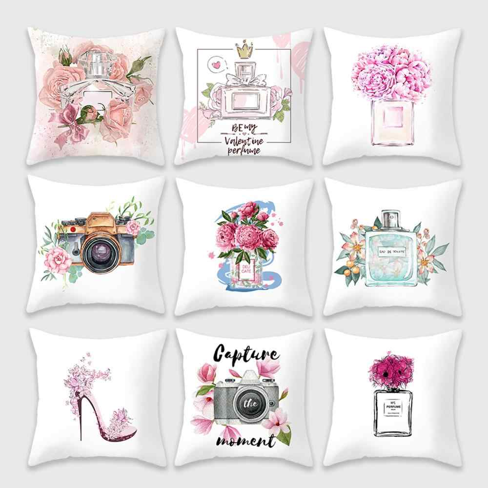 Perfume Bottle Series Cushion Cover 45x45 Valentine S Day Pillowcase Super Soft Pillow Cover Flowers For Sofa Pillow Covers Cushion Cover Aliexpress