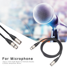 3 Pin Audio Wire Microphone Amplifier Wide Scope of Application Simplicity XLR Male to Female Extension Cords 10pcs(China)